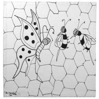 Bande dessinée 8922 de papillon serviettes de table
