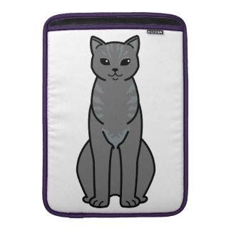 Bande dessinée asiatique de chat de fumée poches macbook