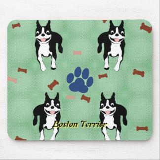 Bande dessinée de Boston Terrier Tapis De Souris