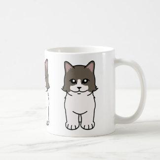 Bande dessinée de chat de Munchkin Mug Blanc