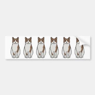 Bande dessinée de chat de raquette autocollant de voiture