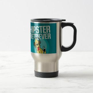 Bande dessinée de chien d'arrêt de hippie mug de voyage
