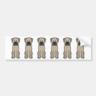 Bande dessinée de chien de Bullmastiff Autocollant De Voiture