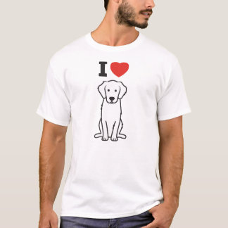 Bande dessinée de chien de golden retriever t-shirt