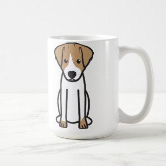Bande dessinée de chien de Jack Russell Terrier Mug Blanc
