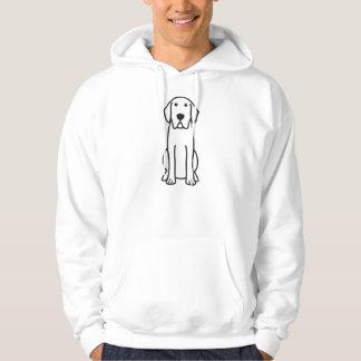 Bande dessinée de chien de labrador retriever veste à capuche