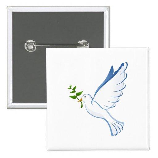 Bande dessinée de colombe de paix pin's avec agrafe