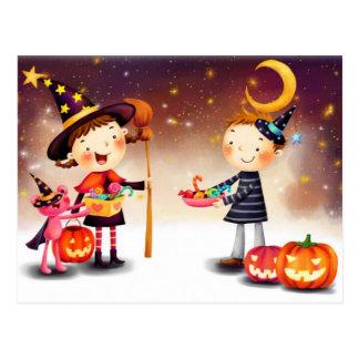 Bande dessinée de joie de Halloween Carte Postale