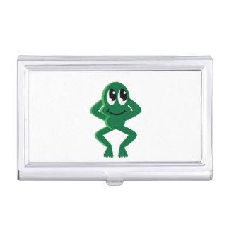 Bande dessinée décontractée de grenouille boîtiers pour cartes de visite