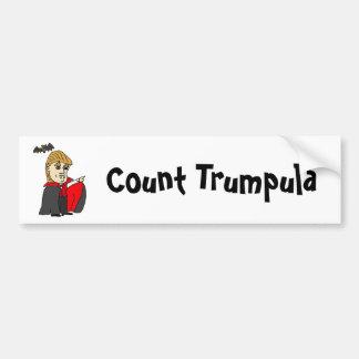 Bande dessinée drôle d'atout de Trumpula de compte Autocollant De Voiture