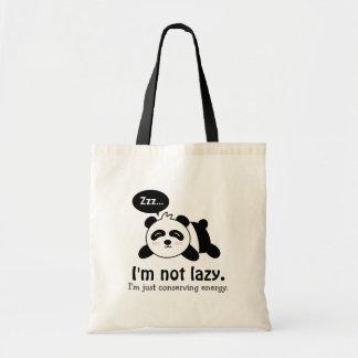 Bande dessinée drôle de panda mignon de sommeil sac en toile budget
