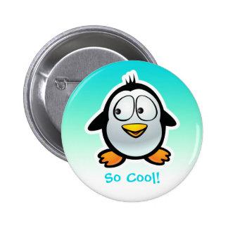 Bande dessinée fraîche de pingouin badge rond 5 cm