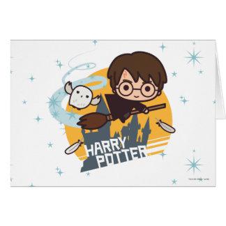 Bande dessinée Harry et vol de Hedwig après Carte De Vœux
