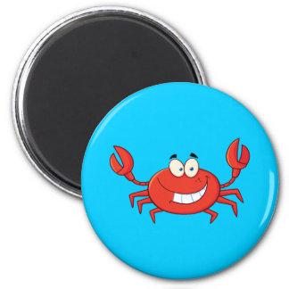 Bande dessinée mignonne de crabe magnets