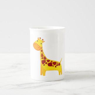 Bande dessinée mignonne de girafe mug
