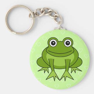 Bande dessinée mignonne de grenouille - prince dan porte-clé rond