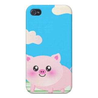 Bande dessinée mignonne de porc coque iPhone 4
