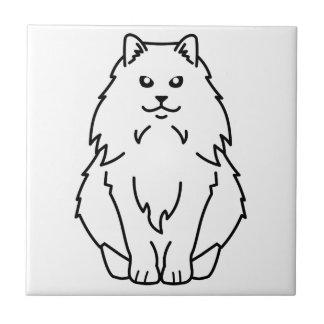 Bande dessinée norvégienne de chat de forêt carreaux en céramique