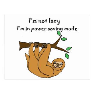 Bande dessinée paresseuse drôle de paresse carte postale