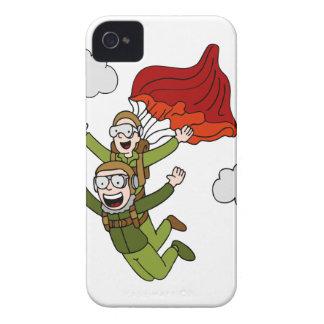 Bande dessinée tandem de vecteur de parachutisme coque iPhone 4