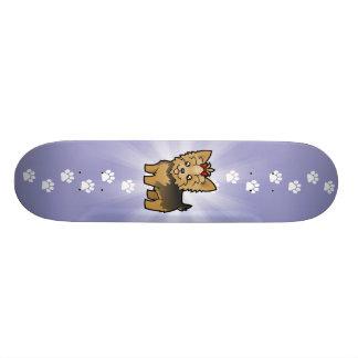 Bande dessinée Yorkshire Terrier (cheveux courts Plateaux De Skateboards Customisés