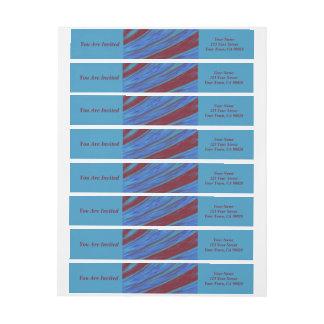 Bande Pour Adresse De Retour Abrégé sur bruissement de couleur de bleu rouge