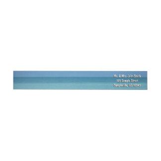 Bande Pour Adresse De Retour Bleu de turquoise tropical d'horizon des Caraïbes