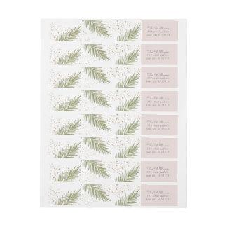 Bande Pour Adresse De Retour Les pins simples rougissent l'étiquette de adresse