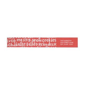 Bande Pour Adresse De Retour Les vacances en lettres de main expriment les