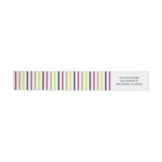 Bande Pour Adresse De Retour Motif lumineux et coloré de rayures