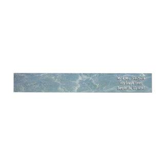 Bande Pour Adresse De Retour Nature des Caraïbes de bleu d'abrégé sur l'eau