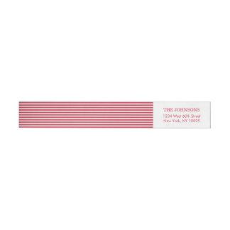 Bande Pour Adresse De Retour Rayures blanches rouges de couleur faite sur