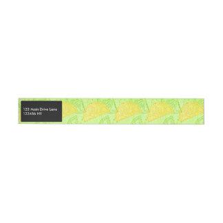 Bande Pour Adresse Motif lumineux de citrons d'agrume de vert de