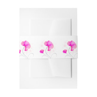 Bande rose florale de ventre de mariage d'art bandeaux de faire-part