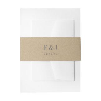 Bandeau De Faire-part Monogramme imprimé de Papier d'emballage
