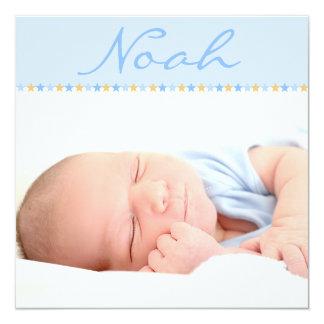 Bandeau étoilé bleu ⎮ Faire-part de naissance