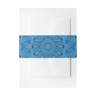 Bandeaux De Faire-part Bande vintage bleue décorative de ventre
