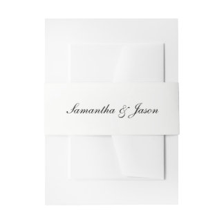 Bandeaux De Faire-part Manuscrit classique personnalisé de mariage