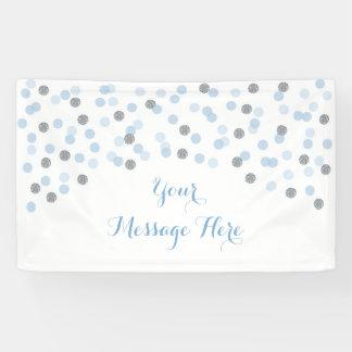 Banderoles Baby shower de confettis de bleus layette et