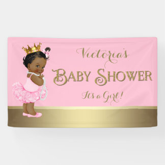 Banderoles Baby shower ethnique de princesse Tutu Pearls