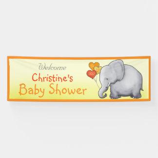 Banderoles Baby shower non sexiste d'éléphant mignon de