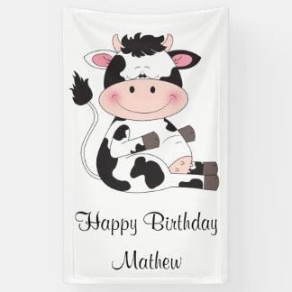 Banderoles Bande dessinée mignonne de vache à bébé