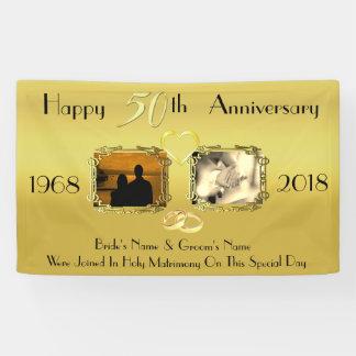 Banderoles Idée d'anniversaire de mariage cinquantième d'or
