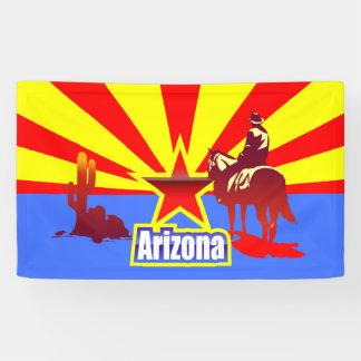 Banderoles Illustration de cru de drapeau d'état de l'Arizona