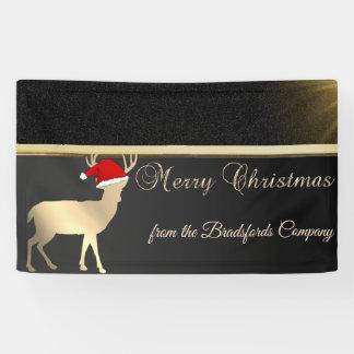 Banderoles Joyeux Noël, Christmas Deer Santa Hat, Company