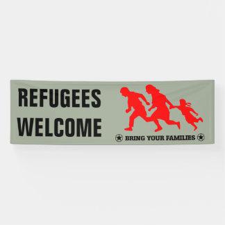 Banderoles L'accueil de réfugiés amènent votre famille