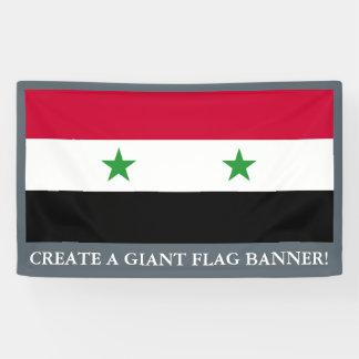 Banderoles Le drapeau de la Syrie