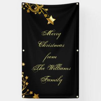 Banderoles Le nom de famille d'étoile de Joyeux Noël tient le