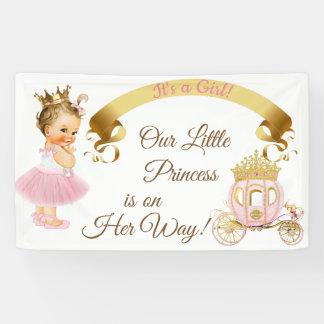 Banderoles Or de rose de chariot de princesse bébé