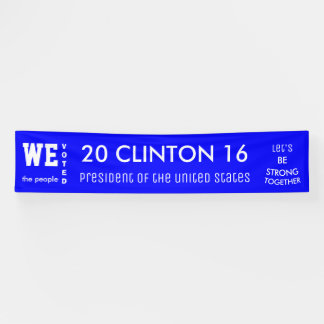 Banderoles Président 2016 de vote populaire de Clinton Des